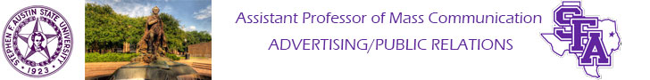 Stephen F. Austin State University — Assistant Professor of Mass Communication – ADVERTISING/PUBLIC RELATIONS